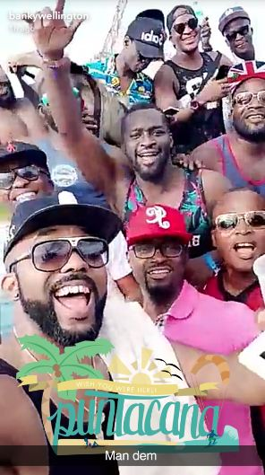 Banky W & Friends On Bachelors' Trip (See Photos)