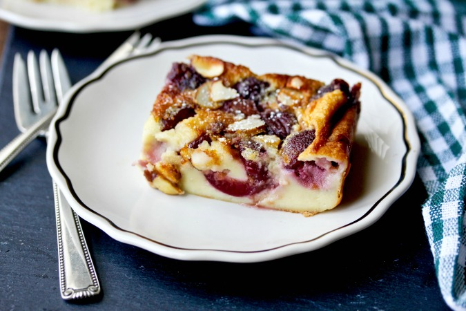 Fresh Cherry Clafoutis with Almonds