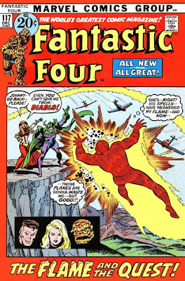 Fantastic Four #117, Diablo, Crystal and the Human Torch
