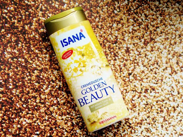 Gold Glitter | Kremowy, złocisty żel pod prysznic o zapachu moni i ambry Isana