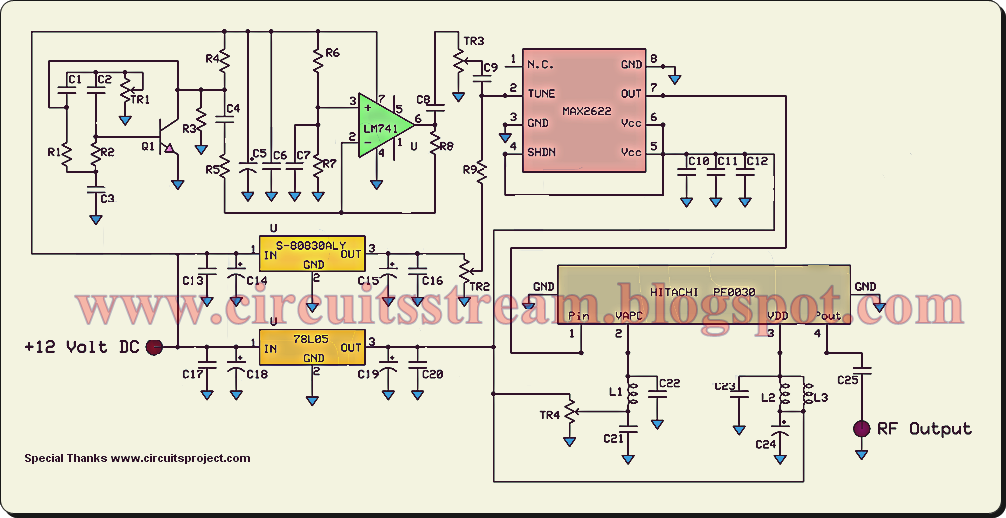 Jammer Circuito : A gift mobile phone jammer circuit diagram electronic