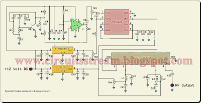 Mobile phone Jammer Circuit Diagram