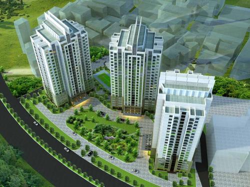 Không gian xanh tại chung cư The Link 345 Ciputra Nam Thăng Long