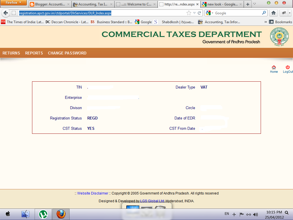 AP Commercial Tax VAT e-returns - Accounting & Taxation