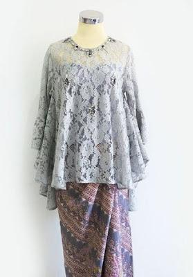 41 Contoh Desain Model Baju Kebaya Muslim Brokat Modern Pesta