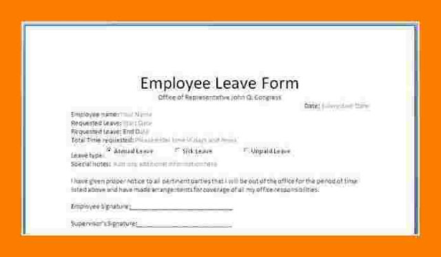 leave application format for employee - 28 images - leave