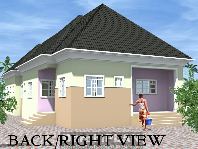 Nigeria Building Style Architectural Designs By Darchiplan Homes Four Bedroom Detached Bungalow