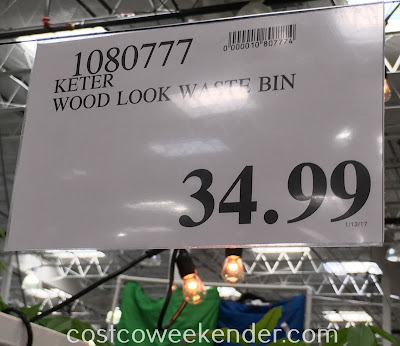 Deal for the Keter Copenhagen Wood Look Waste Bin at Costco