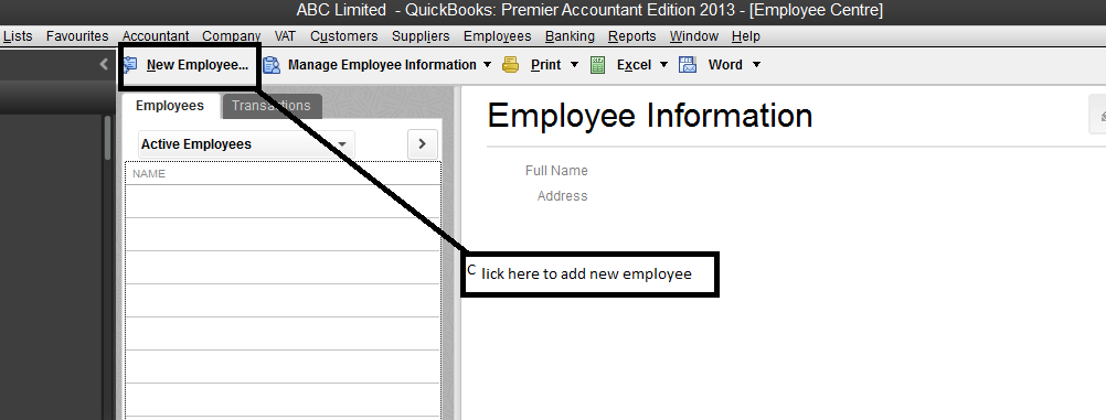How to Add New Employee in QuickBooks- Name, Address