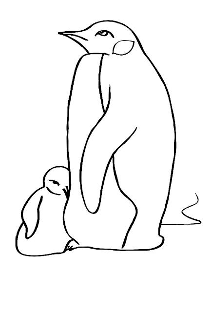 Gambar Mewarnai Pinguin - 9