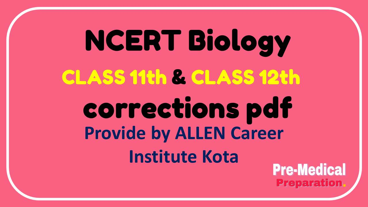 Changes in Ncert Biology Class 11th and Class 12th in pdf