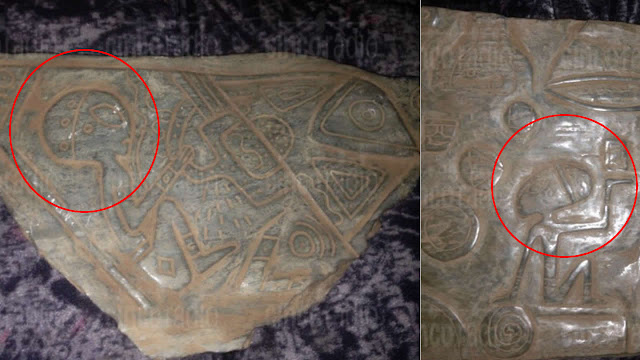 Aliens found on ancient artefacts in a Mexican cave.
