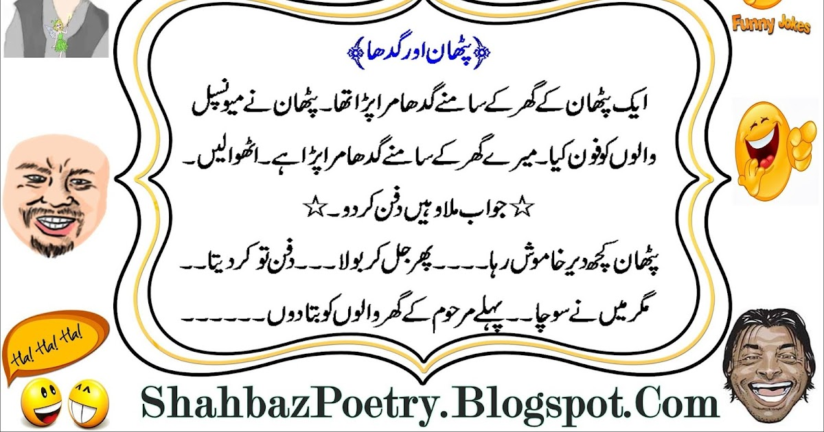 All About Fun Place: Pathan And Donkey Died Body Funny SMS 2017