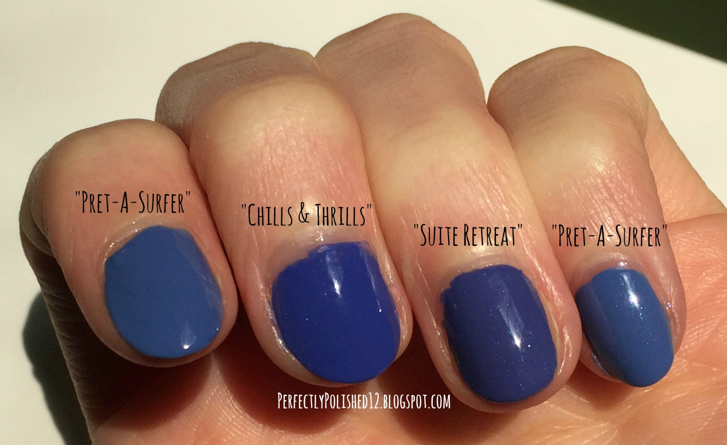 Perfectly Polished 12: Dupe Post: Royal Blue Essie Nail Polishes