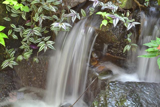 Air terjun buatan di dalam Taman Rama-Rama Kuala Lumpur