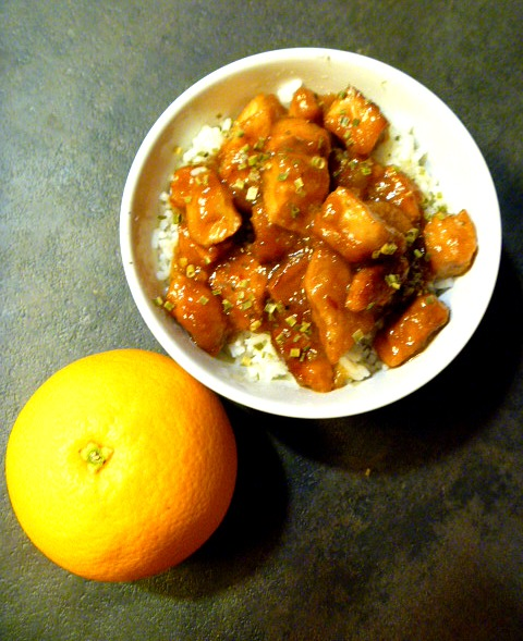 Slow Cooker Orange Chicken that healthier!  This is the easiest way to have a meal that's better than takeout.  Plus the flavors are outstanding! - Slice of Southern