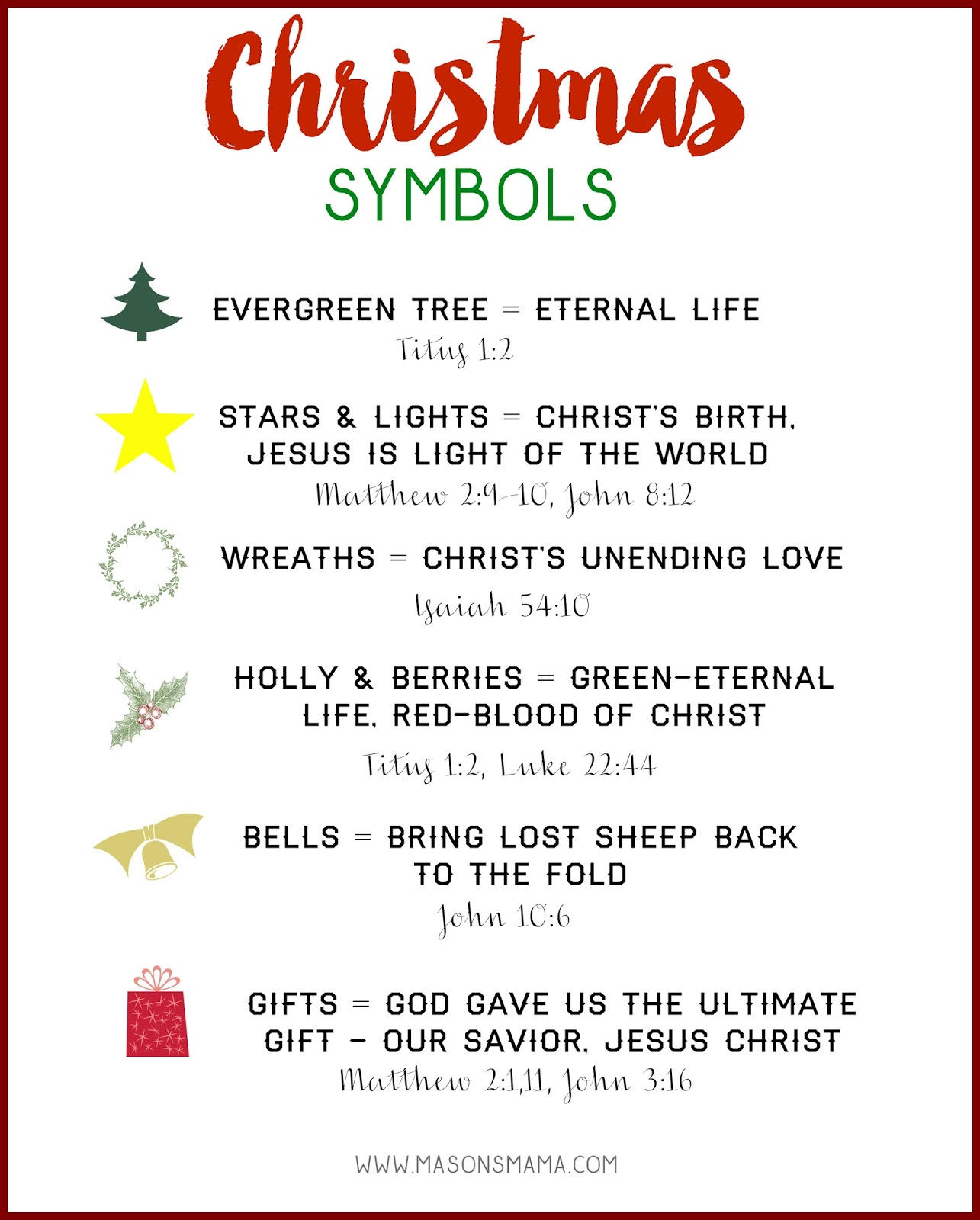Hall Around Texas Christmas Symbols