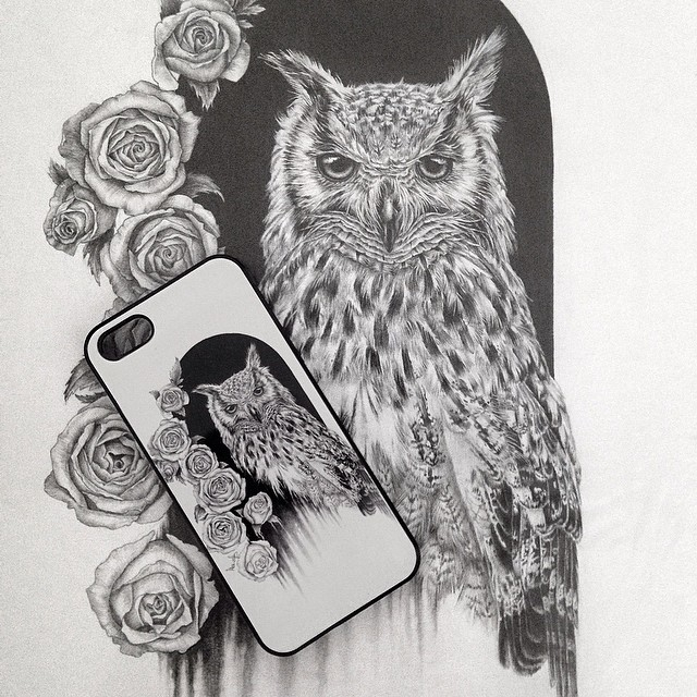 10-Night-Beauty-Owl-Drawing-Monica-Lee-zephyrxavier-Eclectic-Mixture-of-Pencil-Wild-Life-and-Portrait-Drawings-www-designstack-co