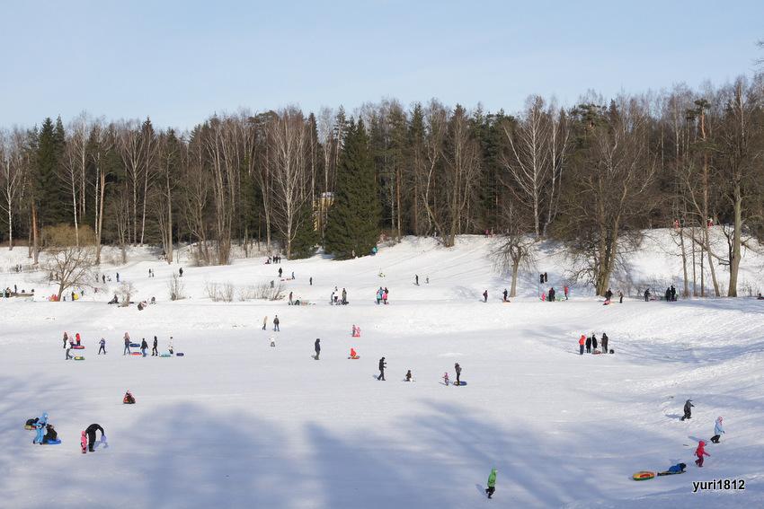 Масленица, проводы зимы в Павловске