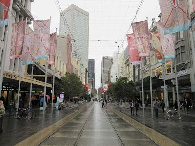 Bourke Street, en el centro de Melbourne