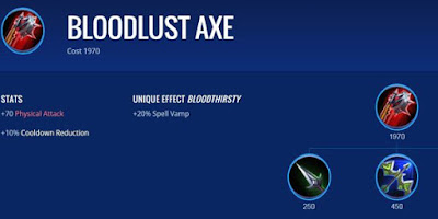 Bloodlust Axe - Item Game Mobile Legends