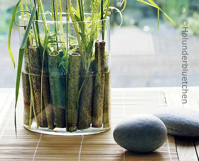 Japanische Tischdeko holunderbluetchen friday flowerday 23
