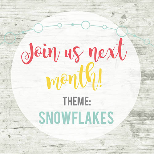 inspire my creativity challenge december theme snowflakes