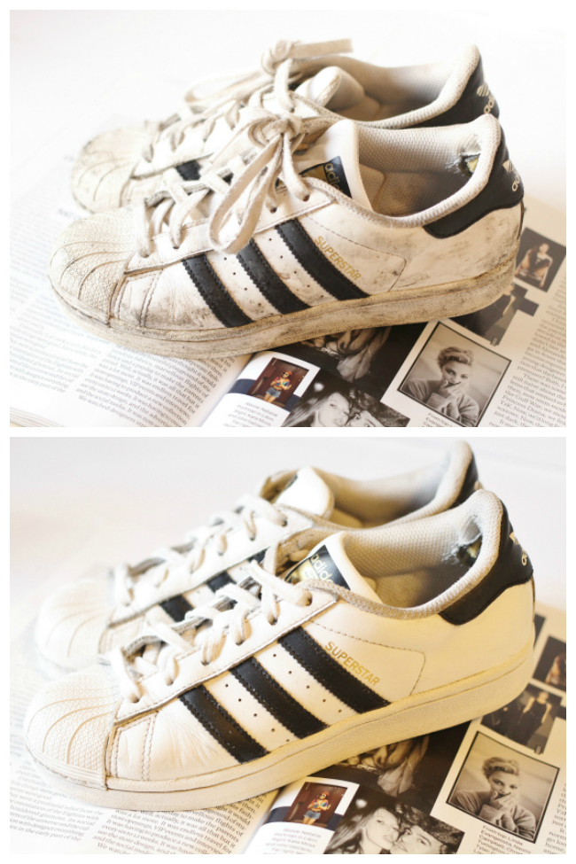 How To, DIY, White, Leather, Trainers, Superstars, Adidas, Kiwi, Whitener, Uk, Fashion, Lifestyle, Blogger, tips