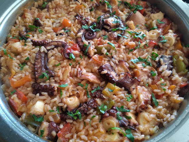 Receta: arroz con pulpo