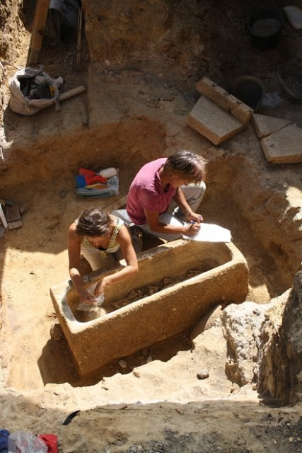 Roman sarcophagi discovered near the Olympic stadium in Rome