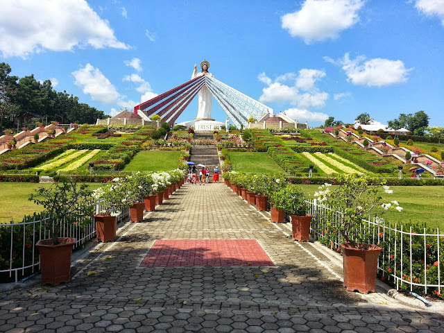Fifty-foot Divine Mercy statue at Divine Mercy Hills in El Salvador, Misamis Oriental