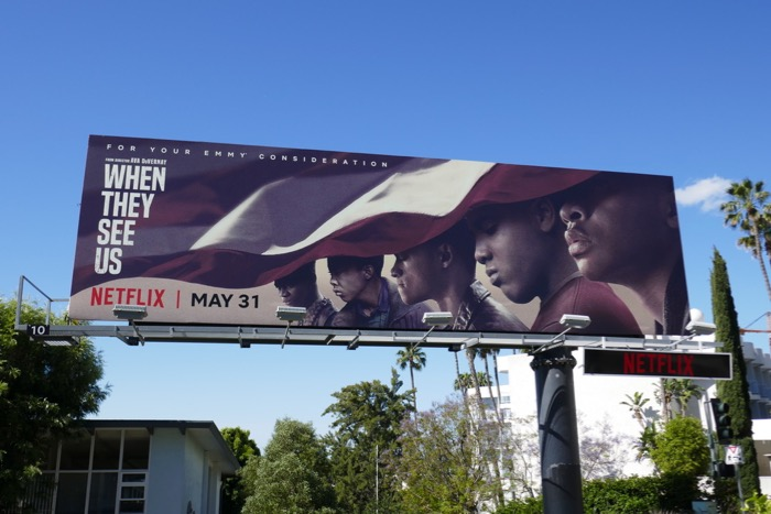 When They See Us series premiere billboard