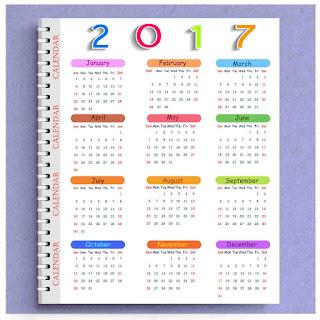 2017カレンダー無料テンプレート25