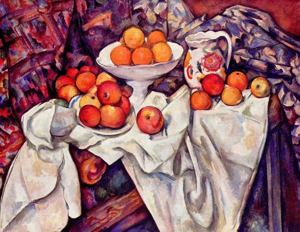 Natureza Morta com Maças e Laranjas - Paul Cézanne e suas principais pinturas ~ O fundador da Arte Moderna