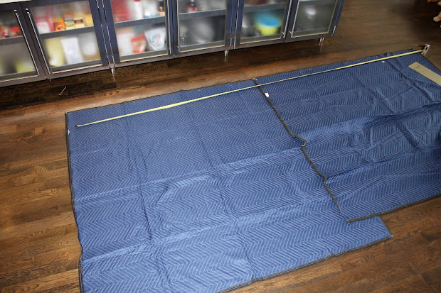 Shingled House Moving Blankets Wall Protectors