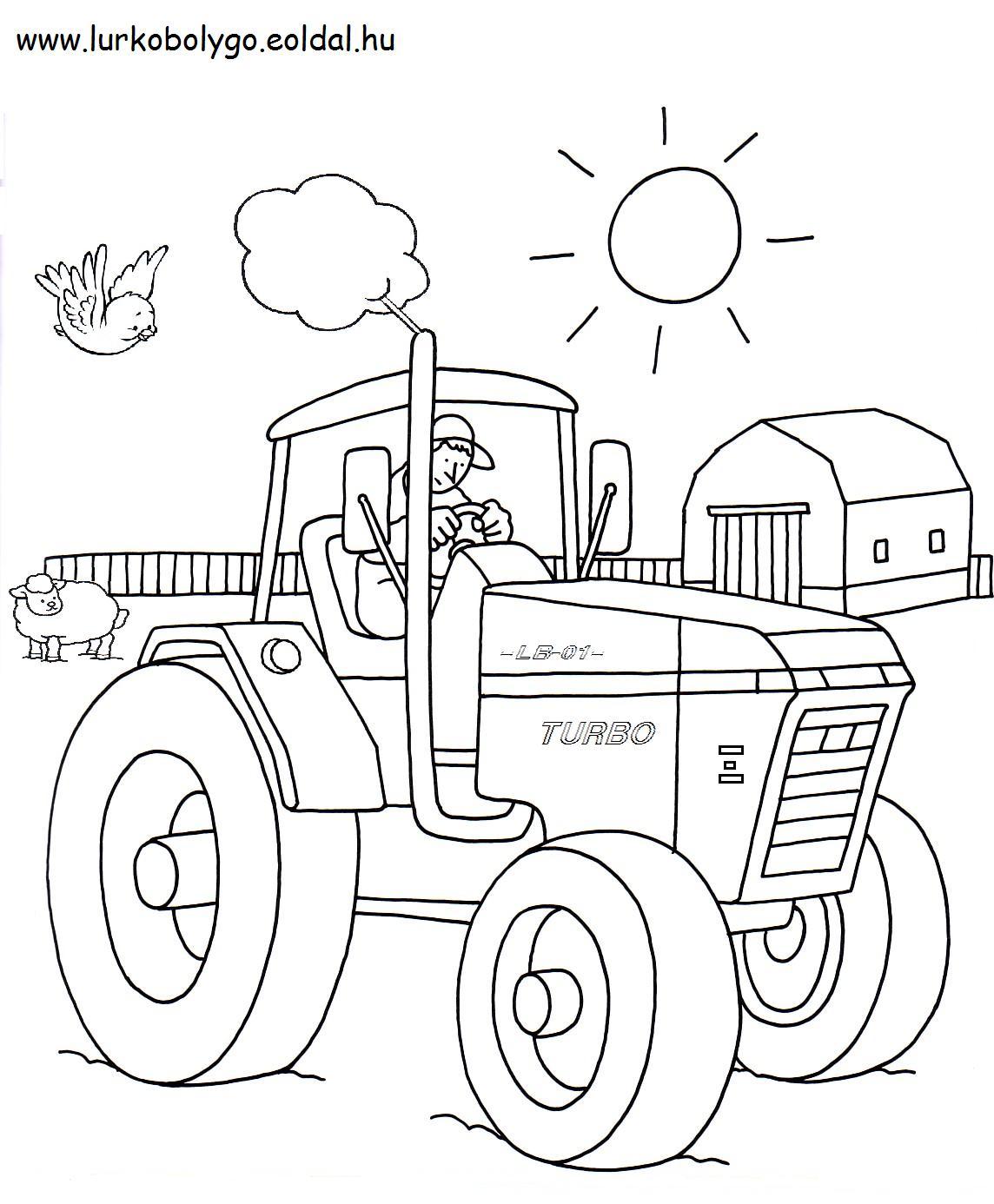 ausmalbilder traktor mit anhänger