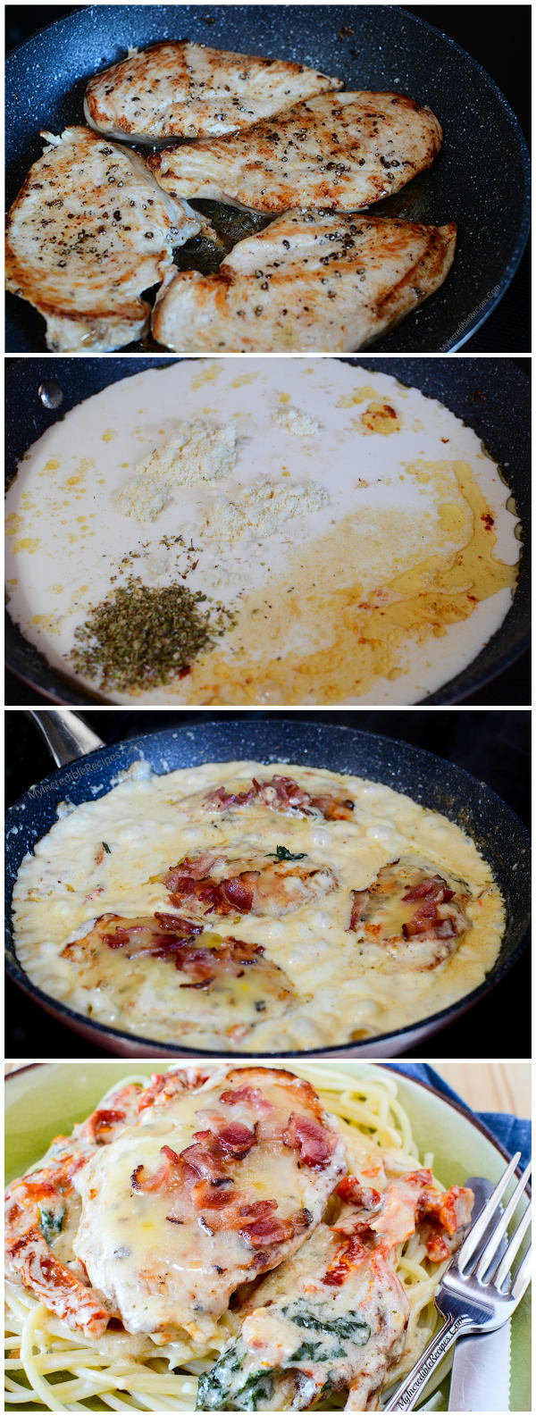 Bacon & Cheese Smothered Garlic Chicken