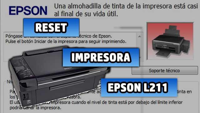 resetear almohadillas de la impresora EPSON L211