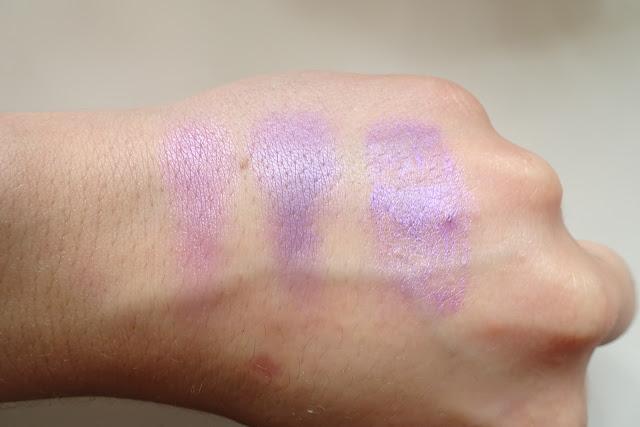 beztalkowe cienie glamshadows - ultra fiolet