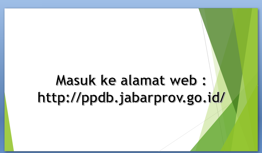 Cara Daftar Online Ke SMA PPDB Jawa Barat T.P. 2017/2018