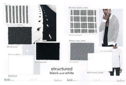 KNITWEAR for MEN - Structured black & white