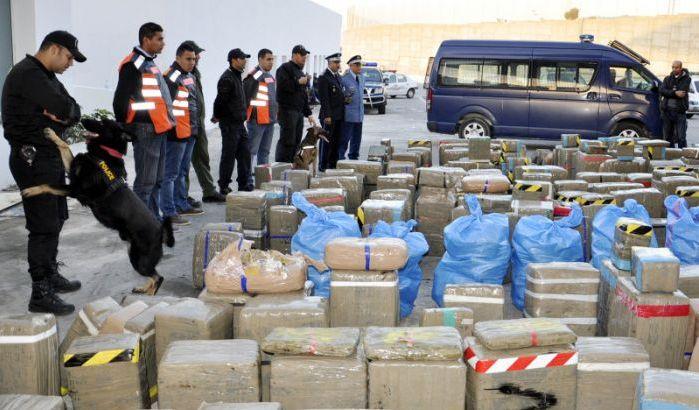Saisie de 8 tonnes de Haschisch dans le nord du Maroc.