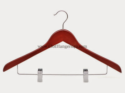 Wooden Combination Hanger WCOH100C Cherry