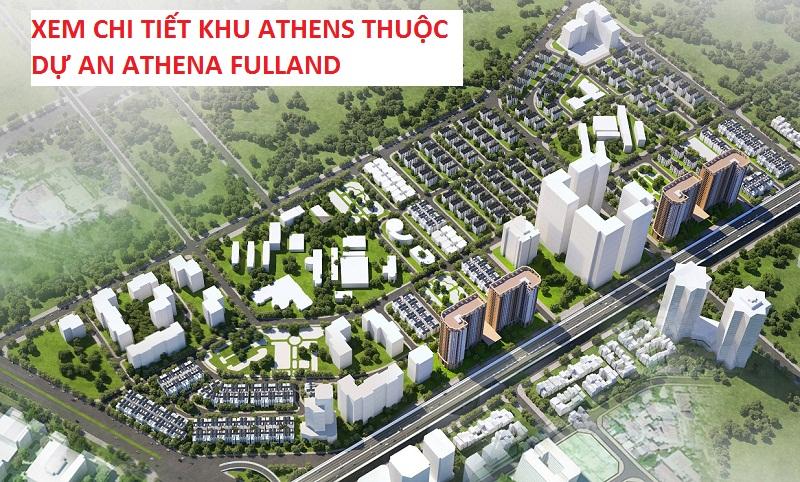 chi tiết khu Athens dự án Athena Fulland