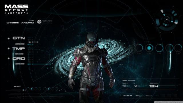 Características del personaje del videojuego de exploración espacial Mass Effect Andromeda