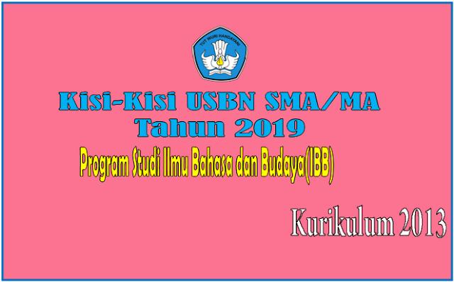 Kisi-Kisi USBN SMA/MA Program Studi IBB Tahun 2019