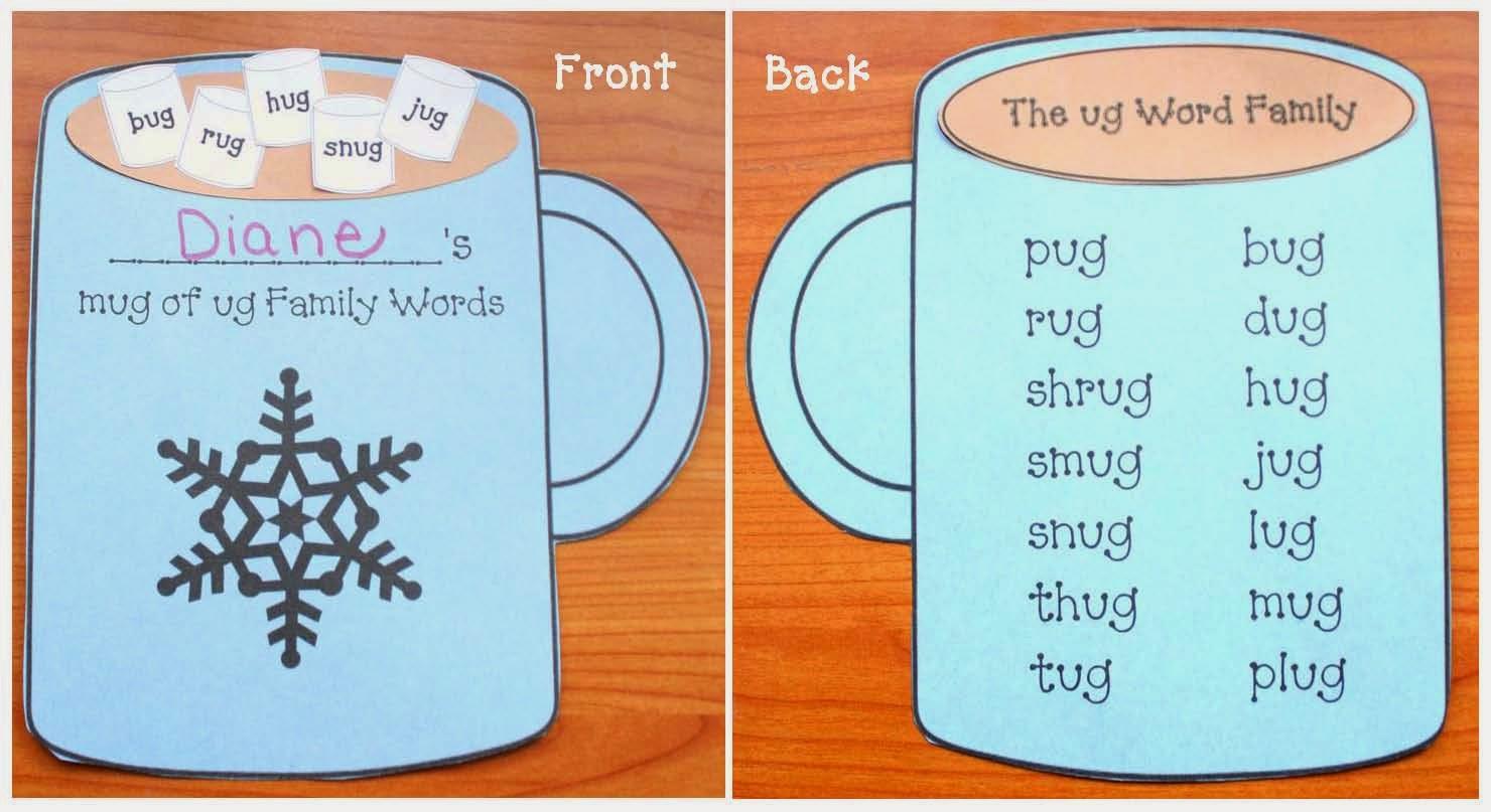Classroom Freebies Ug Word Family Mug Packet