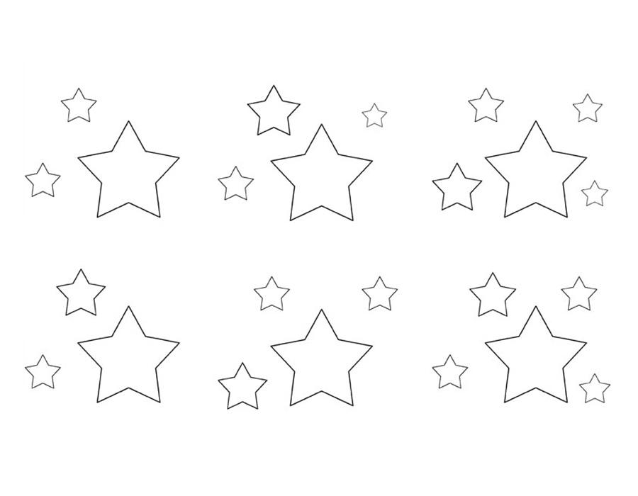 Gambar Mewarnai Bintang Untuk Anak PAUD dan TK