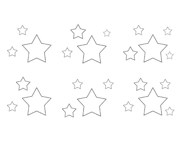 Gambar Mewarnai Bintang - 8