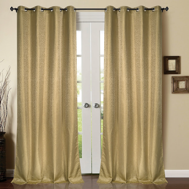 Blackout Curtain Spiral Bouquet_Beige